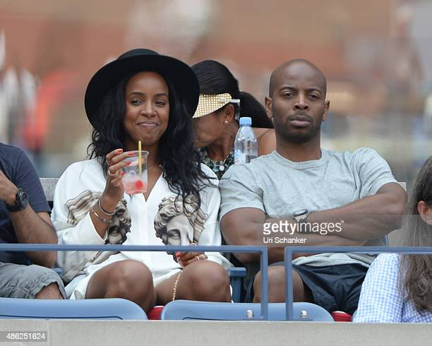 Kelly Rowland and Tim Witherspoon attend day 3 of the 2015 US Open at USTA Billie Jean King National Tennis Center on September 2 2015 in New York...