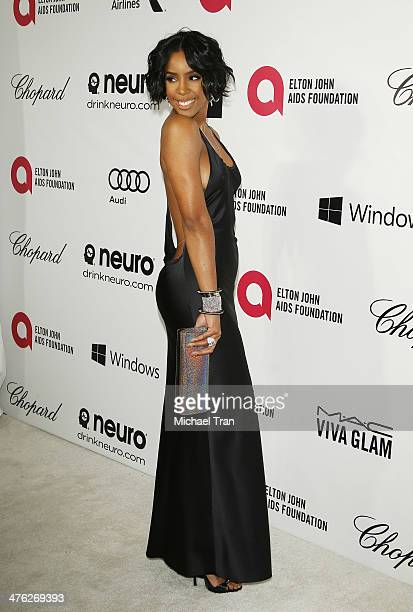 Kelly Rowland arrives at the 22nd Annual Elton John AIDS Foundation's Oscar viewing party held on March 2 2014 in West Hollywood California