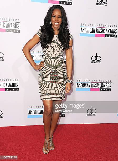 Kelly Rowland arrives at the 40th Anniversary American Music Awards at Nokia Theatre LA Live on November 18 2012 in Los Angeles California