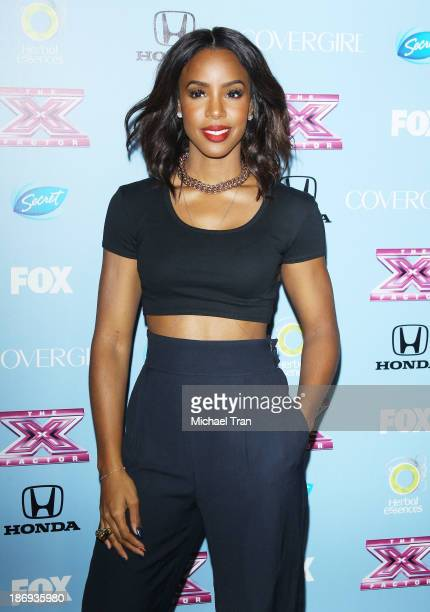 Kelly Rowland arrives at 'The X Factor' finalists party held at SLS Hotel on November 4 2013 in Los Angeles California