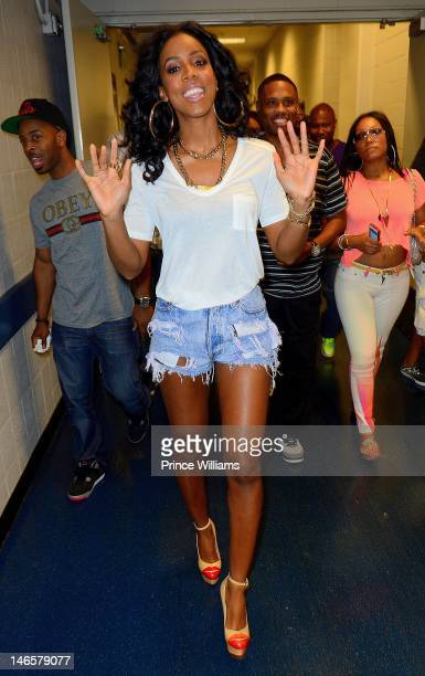 Kelly Rowland attends 1079 Birthday Bash 17 at Philips Arena on June 16 2012 in Atlanta Georgia
