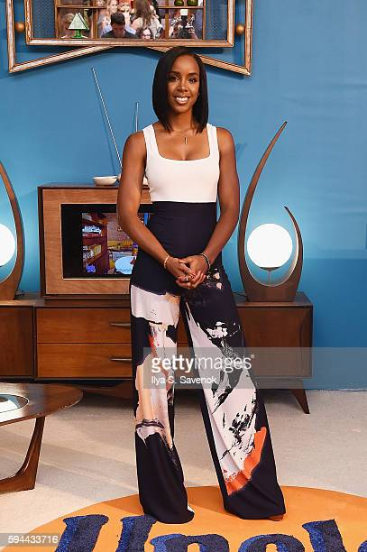 Kelly Rowland attends Ben's Beginners Cooking Contest Launch Event Back to the Future Of Cooking at Home Studios on August 23 2016 in New York City