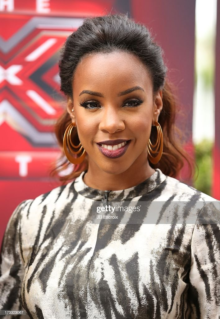 <a gi-track='captionPersonalityLinkClicked' href=/galleries/search?phrase=Kelly+Rowland&family=editorial&specificpeople=201760 ng-click='$event.stopPropagation()'>Kelly Rowland</a> attends Fox's 'The X Factor' Judges at Galen Center on July 11, 2013 in Los Angeles, California.