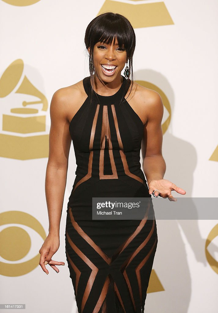 <a gi-track='captionPersonalityLinkClicked' href=/galleries/search?phrase=Kelly+Rowland&family=editorial&specificpeople=201760 ng-click='$event.stopPropagation()'>Kelly Rowland</a> attends The 55th Annual GRAMMY Awards press room held at Staples Center on February 10, 2013 in Los Angeles, California.