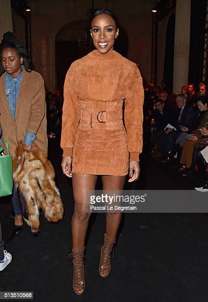 Kelly Rowland attends the Balmain show as part of the Paris Fashion Week Womenswear Fall/Winter 2016/2017 on March 3 2016 in Paris France