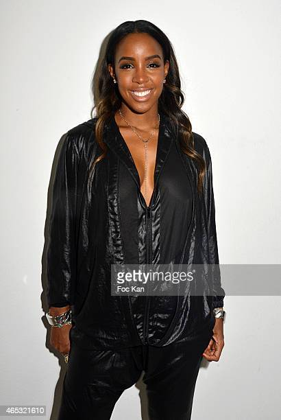 Kelly Rowland attends the Barbara Bui show as part of the Paris Fashion Week Womenswear Fall/Winter 2015/2016 at Palais de Tokyo on March 5 2015 in...