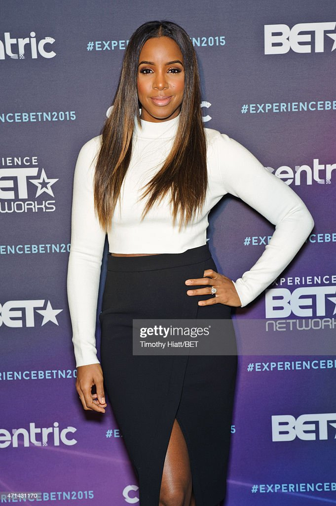 Kelly Rowland attends the BET Upfronts on April 20 2015 in Chicago Illinois