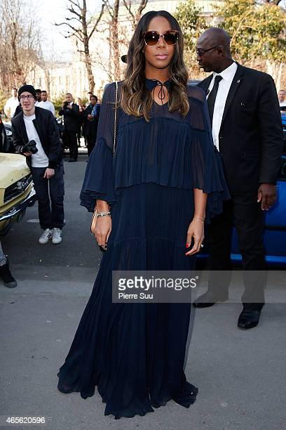 Kelly Rowland attends the Chloe show as part of the Paris Fashion Week Womenswear Fall/Winter 2015/2016 on March 8 2015 in Paris France