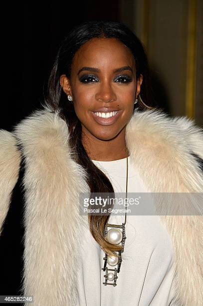 Kelly Rowland attends the Lanvin show as part of the Paris Fashion Week Womenswear Fall/Winter 2015/2016 on March 5 2015 in Paris France