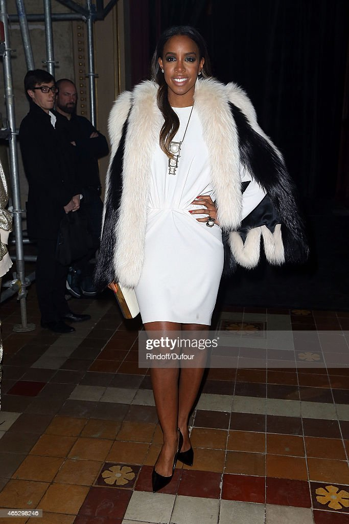 Kelly Rowland attends the Lanvin show as part of the Paris Fashion Week Womenswear Fall/Winter 2015/2016 on March 5, 2015 in Paris, France.