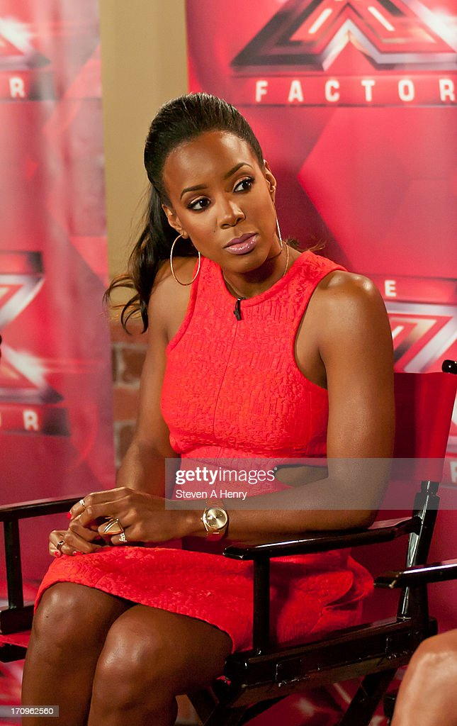 Kelly Rowland attends the 'The X Factor' Judges press conference at Nassau Veterans Memorial Coliseum on June 20, 2013 in Uniondale, New York.