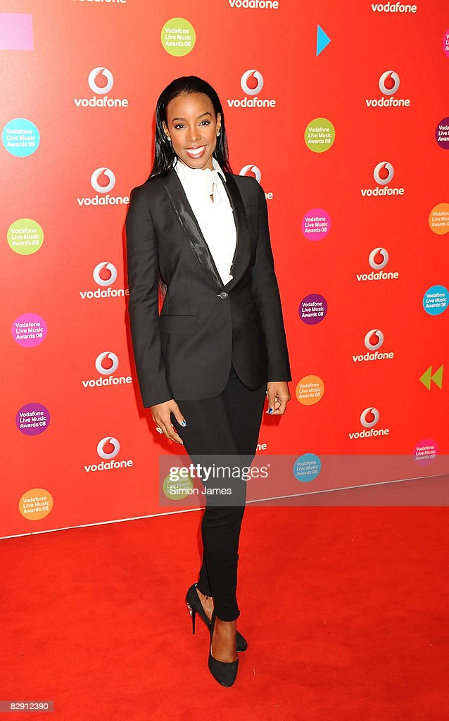 Kelly Rowland attends the Vodafone Live Music Awards at the Carling Academy Brixton on September 18 2008 in London England