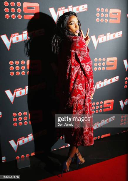 Kelly Rowland attends the Voice Live Show Launch 2017 on May 31 2017 in Sydney Australia