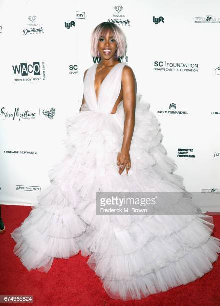 Kelly Rowland attends the Wearable Art Gala at California African American Museum on April 29 2017 in Los Angeles California