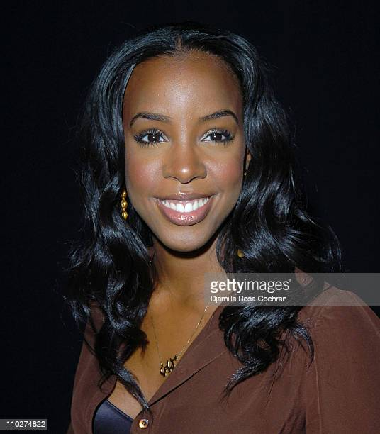 Kelly Rowland during Olympus Fashion Week Fall 2006 Badgley Mischka Front Row and Backstage at Bryant Park in New York City New York United States