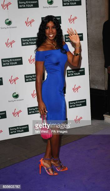 Kelly Rowland during the Ralph Lauren/Sony Ericsson WTA Tour preWimbledon Party at the Kensington Roof Gardens in London