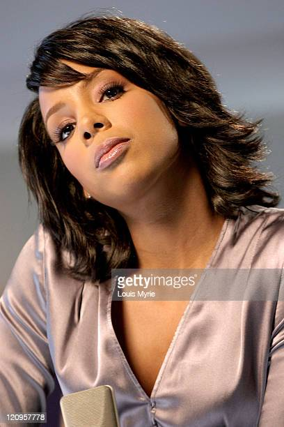 Kelly Rowland during Vocalist Kelly Rowland Shoots Haircare Commercial at North Caldwell in North Caldwell New Jersey United States