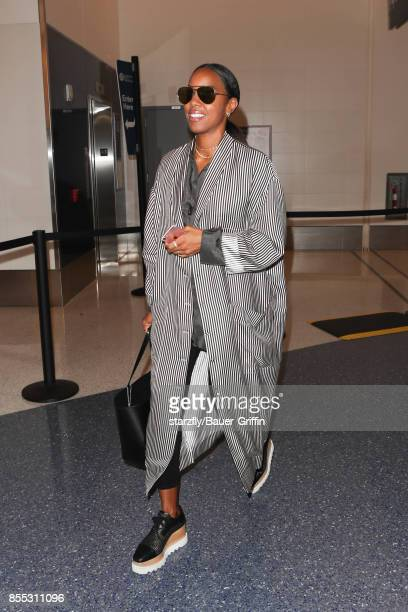 Kelly Rowland is seen at LAX on September 28 2017 in Los Angeles California