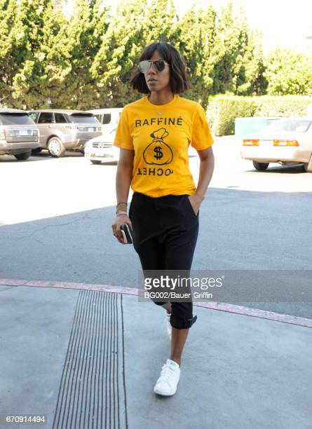 Kelly Rowland is seen on April 20 2017 in Los Angeles California