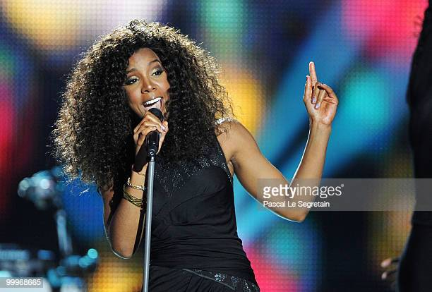 Kelly Rowland onstage during the World Music Awards 2010 at the Sporting Club on May 18 2010 in Monte Carlo Monaco