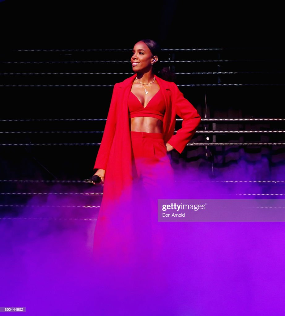 Kelly Rowland performs during RNB Fridays Live at Qudos Bank Arena on October 12, 2017 in Sydney, Australia.