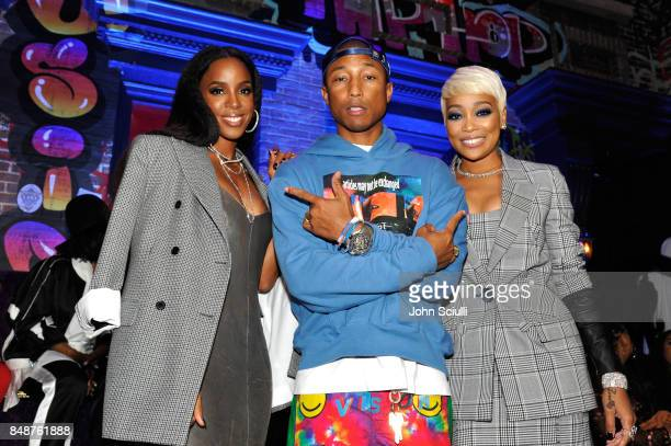 Kelly Rowland Pharrell Williams and Monica attends VH1 Hip Hop Honors The 90s Game Changers at Paramount Studios on September 17 2017 in Los Angeles...