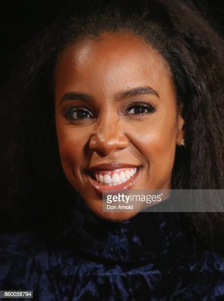 Kelly Rowland poses during the Channel Nine Upfronts 2018 event on October 11 2017 in Sydney Australia