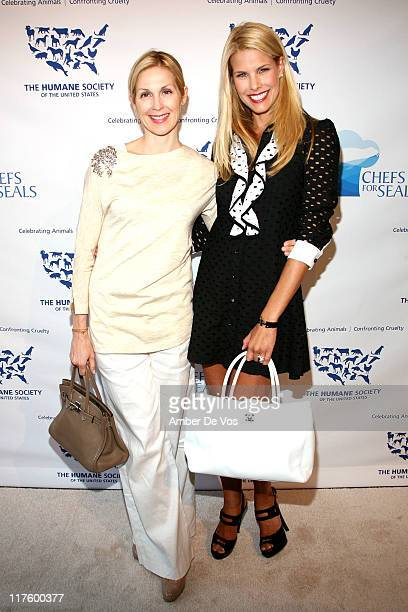 Kelly Rutherford and Beth Stern attend the 2011 Humane Society of the United States' Chefs for Seals event at the Skylight West on June 28 2011 in...