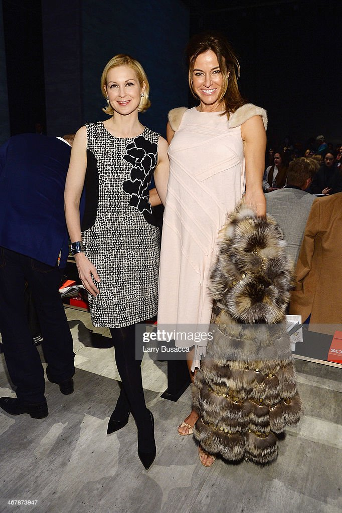 Kelly Rutherford and Kelly Bensimon attend the Son Jung Wan fashion show during MercedesBenz Fashion Week Fall 2014 at The Pavilion at Lincoln Center...