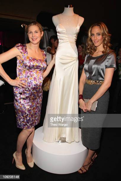 Kelly Rutherford and Kim Raver attend the Modern Bride launch of 'Project Bridesmaids' with Planet Hope giving girls dresses for prom at Hammerstein...