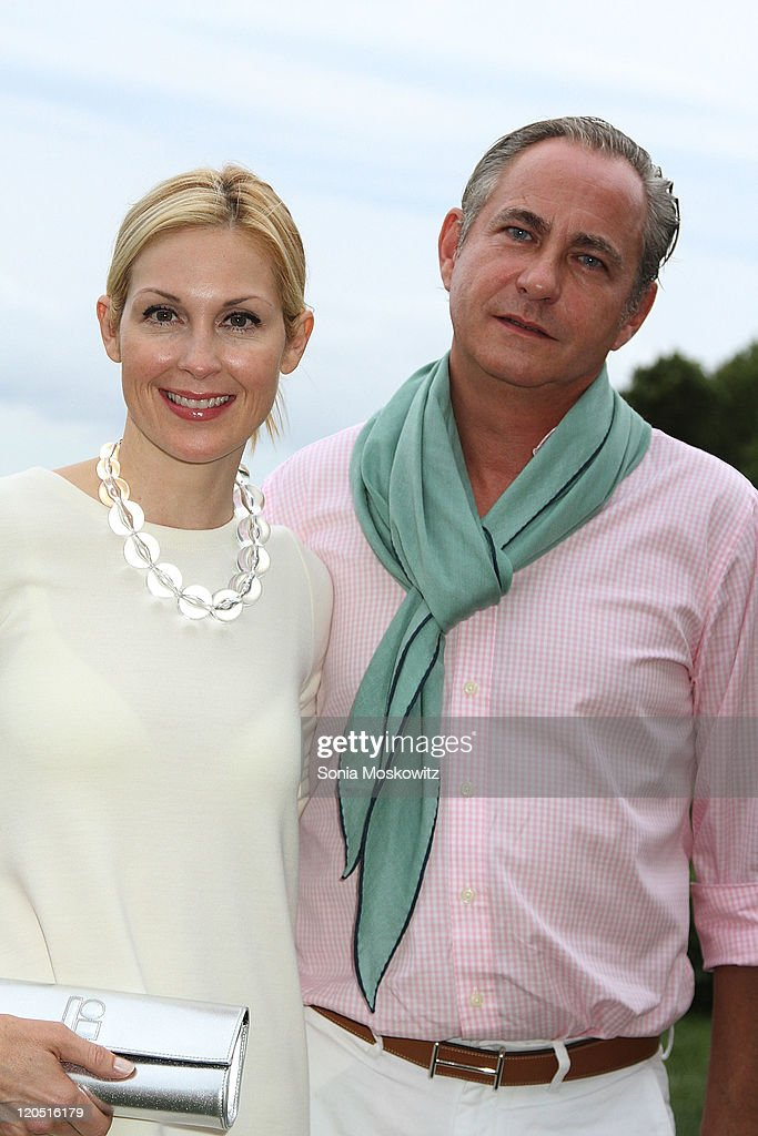 Kelly Rutherford and Marcus Ernst attend the Lisa Perry dress collection launcha t a Private Residence on August 6 2011 in North Haven NY