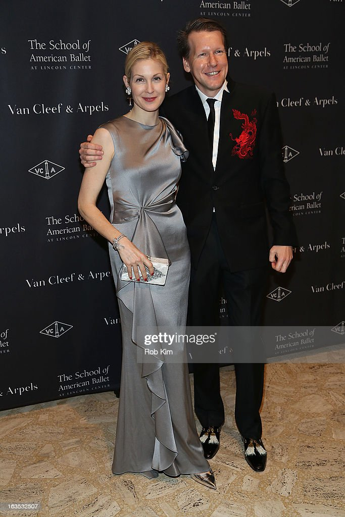 Kelly Rutherford (L) and Nicholas Luchsinger of Van Cleef and Arpels attend the School of American Ballet 2013 Winter Ball at David H. Koch Theater, Lincoln Center on March 11, 2013 in New York City.
