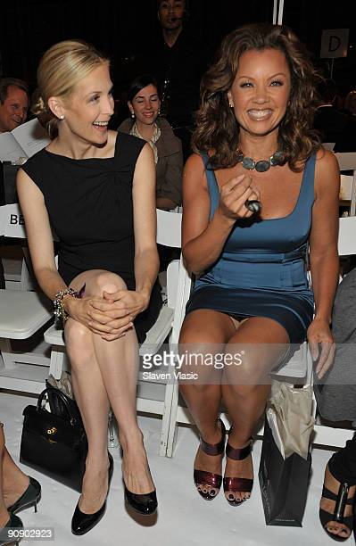 Kelly Rutherford and Vanessa Williams attend the Ann Taylor Fall 2009 'See Now Wear Now' Runway Show at the New York Public Library Celeste Bartos...