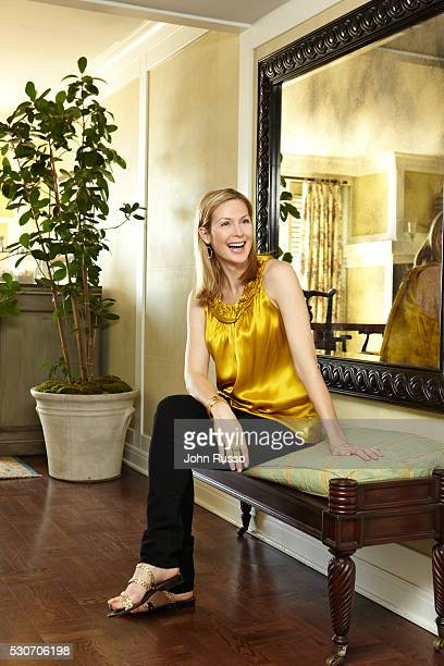 Kelly Rutherford at home
