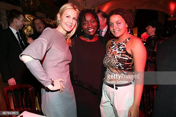 Kelly Rutherford Auma Obama and her daughter Akinyi Obama during the Lambertz Monday Night 2016 at Alter Wartesaal on February 1 2016 in Cologne...