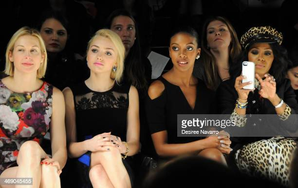 Kelly Rutherford Peyton List Condola Rashad and June Ambrose attend the Nanette Lepore Show during MercedesBenz Fashion Week Fall 2014 at The Salon...