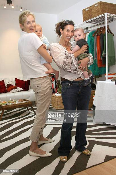 Kelly Rutherford with her son Hermes and Katie Mason Stern with her son Oliver