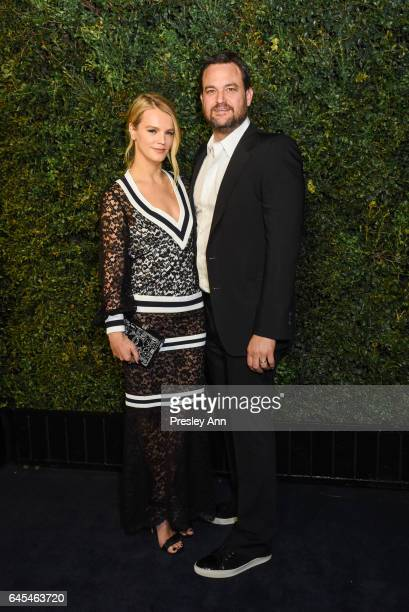 Kelly Sawyer and Jamie Patricof attend Charles Finch and CHANEL PreOscar Awards Dinner at Madeo Restaurant on February 25 2017 in Los Angeles...