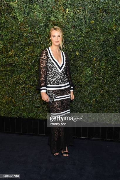 Kelly Sawyer attends Charles Finch and CHANEL PreOscar Awards Dinner at Madeo Restaurant on February 25 2017 in Los Angeles California