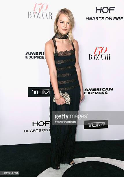 Kelly Sawyer attends Harper's BAZAAR celebration of the 150 Most Fashionable Women presented by TUMI in partnership with American Express La Perla...