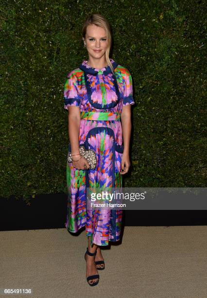 Kelly Sawyer attends the celebration of Chanel's Gabrielle Bag hosted by Caroline De Maigret and Pharrell Williams at Giorgio Baldi on April 6 2017...