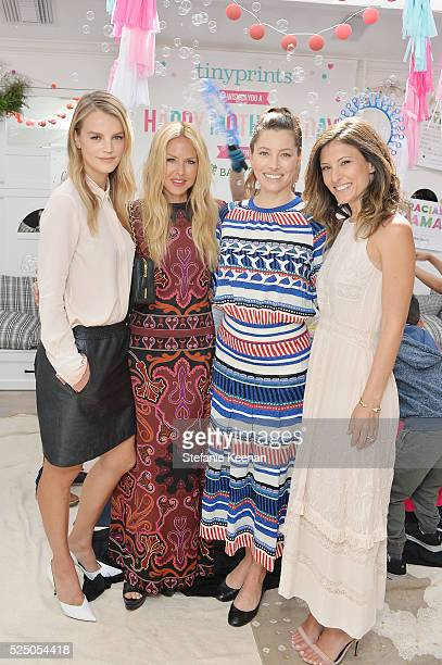 Kelly Sawyer Patricof Rachel Zoe Jessica Biel and Norah Weinstein attend Tiny Prints Presents The Baby2Baby Mother's Day Party at AU FUDGE on April...
