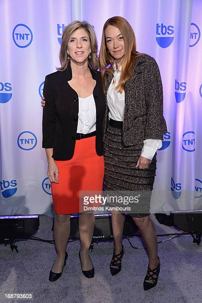 Kelly Siegler and Yolanda McClary attend the 2013 TNT/TBS Upfront at ...