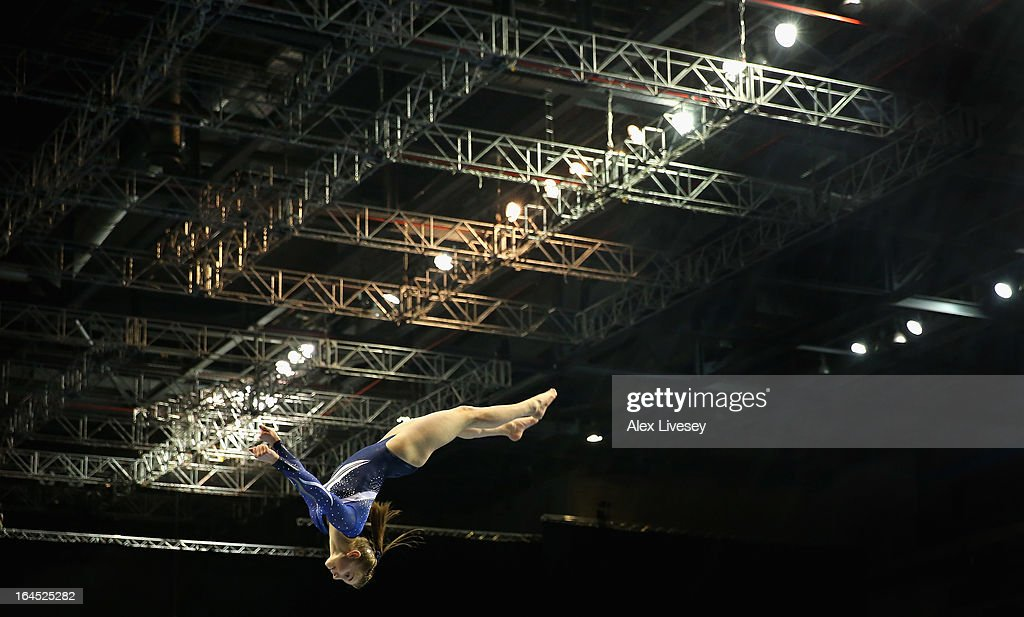 Kelly Simm of Dynamo competes in the Beam in the Women's Senior Apparatus Finals during the Men's and Women's British Gymnastics Championships at the Echo Arena on March 24, 2013 in Liverpool, England.