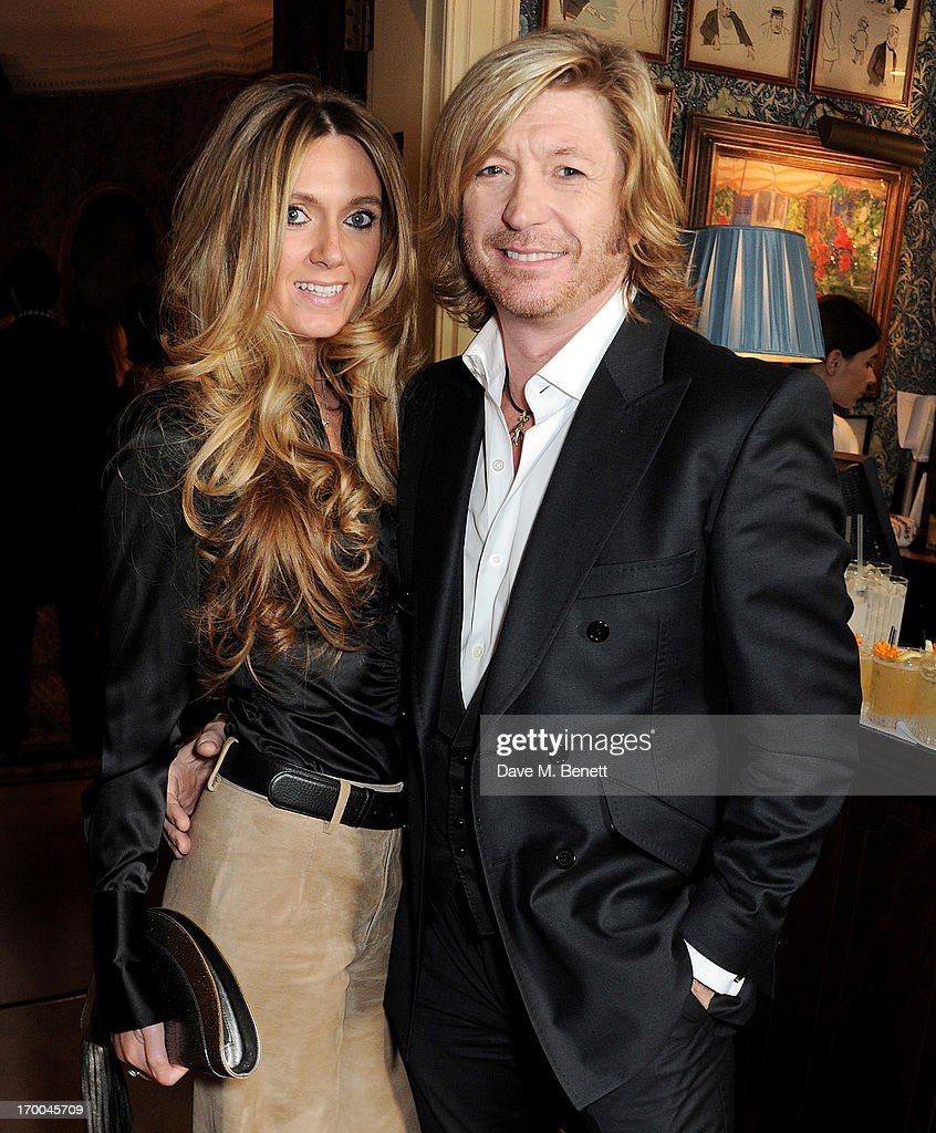 Kelly Simpkin (L) and Nicky Clarke attend the launch of 'The Eighties: One Day, One Decade' by GQ editor Dylan Jones at Mark's Club on June 6, 2013 in London, England.