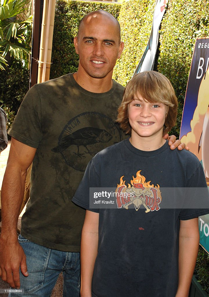 Kelly Slater and guest during 'Surf's Up' Los Angeles Premiere After Party in Westwood California United States
