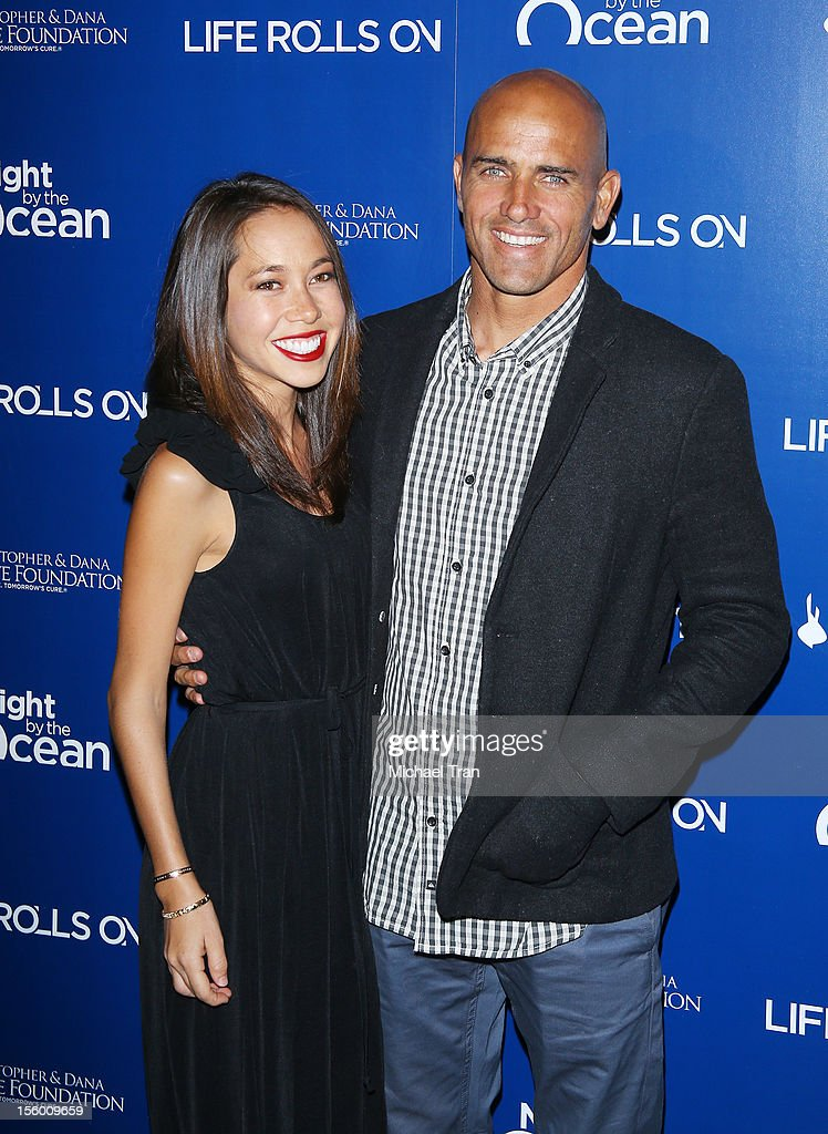 <a gi-track='captionPersonalityLinkClicked' href=/galleries/search?phrase=Kelly+Slater&family=editorial&specificpeople=207101 ng-click='$event.stopPropagation()'>Kelly Slater</a> (R) and Kalani Miller arrive at The Life Rolls On Foundation's 9th Annual Night By The Ocean held at The Ritz-Carlton on November 10, 2012 in Marina del Rey, California.