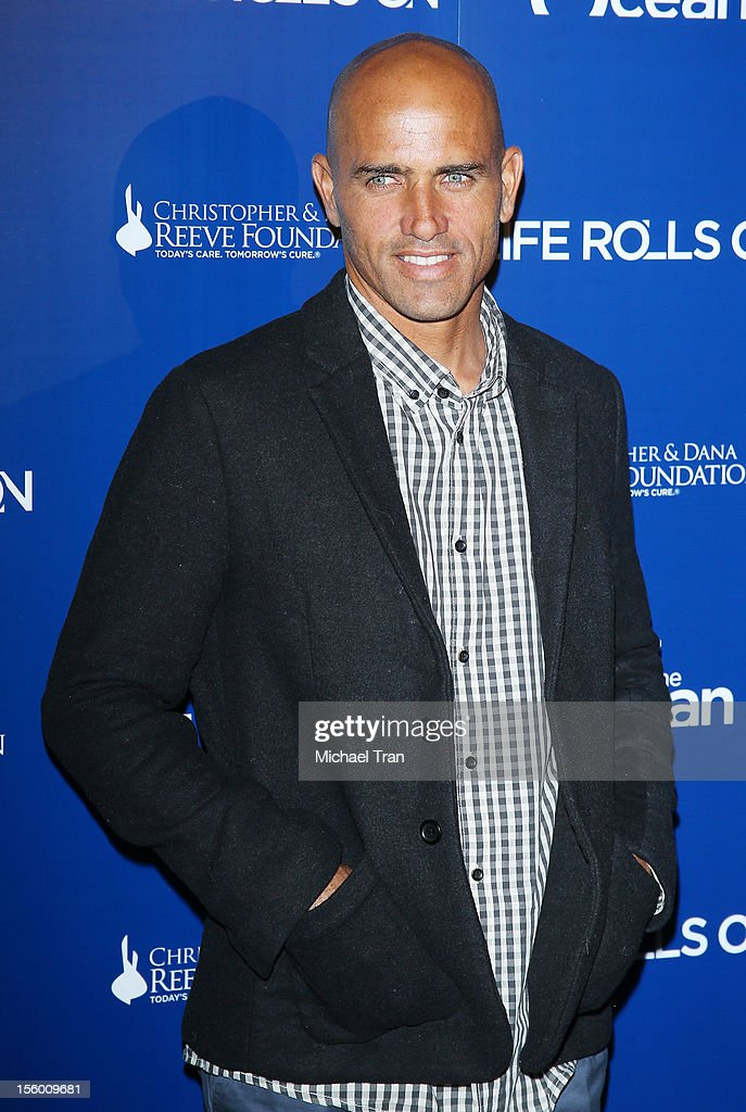 <a gi-track='captionPersonalityLinkClicked' href=/galleries/search?phrase=Kelly+Slater&family=editorial&specificpeople=207101 ng-click='$event.stopPropagation()'>Kelly Slater</a> arrives at The Life Rolls On Foundation's 9th Annual Night By The Ocean held at The Ritz-Carlton on November 10, 2012 in Marina del Rey, California.