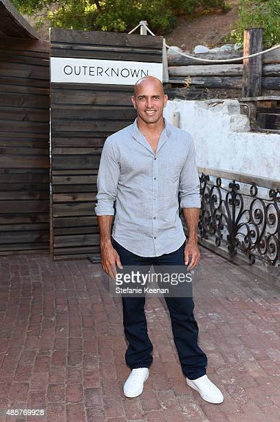 Kelly Slater attends Kelly Slater John Moore and Friends Celebrate the Launch of Outerknown at Private Residence on August 29 2015 in Malibu...