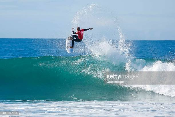 Kelly Slater during round 1 of the JBay Open which is stop 6 on the Men's ASP World Championship Tour from Kouga on July 10 2014 in Kouga South Africa